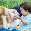 Stock Photo: Mother with son relaxing outdoor