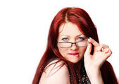 Sexy woman with glasses — Stock Photo