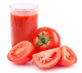 Fresh tomato with juice — Stock Photo