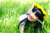 Beautiful woman outdoor — Stock Photo