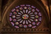 Roseton Catedral de Leon — Stock Photo