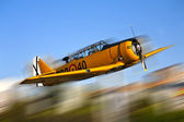 Yellow warplane — Stock Photo