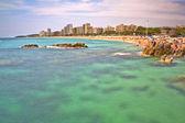 Playa grande de Platja d'Aro (Costa Brava) España — Stock Photo