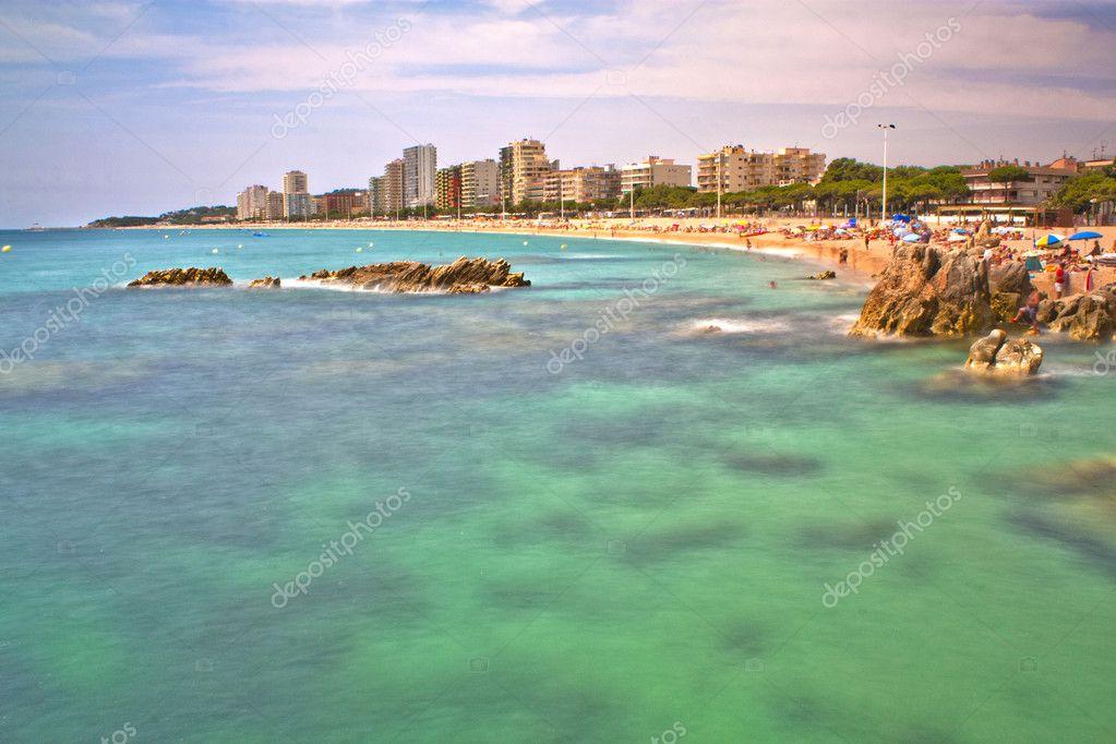 Playa De Aro Spain  city photo : Playa grande de Platja d'Aro Costa Brava España — Stock Photo ...