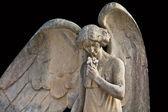 Angel de piedra en el cementerio gotico de Lloret de Mar, Catalu — Stock Photo