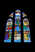 Vidriera de Catedral De La Almudena, Madrid — Stockfoto
