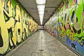 Arte urbano en paso subterraneo — Stock Photo