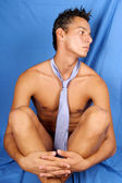 Sexy naked young man — Stock Photo
