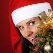 Santa Claus girl — Stock Photo