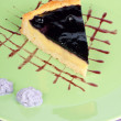 Blueberry and vanilla custard cream tart — Stock Photo #5756797