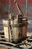 Old water bucket — Stock Photo