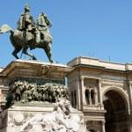 Monument and Galleria Vittorio Emanuele II — Stock Photo #5767531