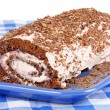 Chocolate swiss roll cake — Stock Photo #5767581