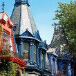 Victorian houses — Stock Photo