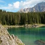Carezza Lake and Rosengarten — Stock Photo #5769196