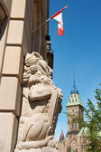 Central Post Office and the Parliament in Ottawa — Stock Photo