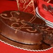 Sacher torte chocolate cake — Stock Photo #5819168