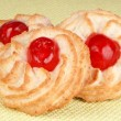 Stock Photo: Almond pastries with cherries