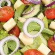 Stock Photo: Fresh mixed salad with cheese
