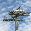 Cableway and pylon — Stock Photo