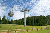 Cable car on cableway — Stock Photo