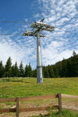 Cableway and pylon — Стоковое фото
