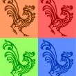 Ornamental rooster — Stock Vector #5516878
