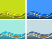 Background for presentation with wave — Stock Vector