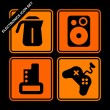 Stock Vector: Electronics icon set