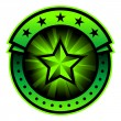 Star label — Stock Vector