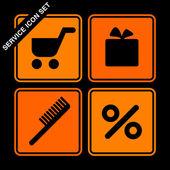 Service icon set — Stock Vector