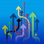 Many arrows — Stock Vector