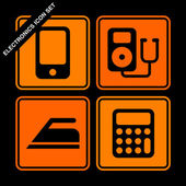 Electronics icon set — Stock Vector