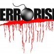 Illustration of terrorism headline — Stock Vector