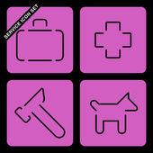 Dienst pictogrammenset — Stockvector