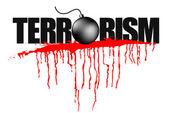 Illustration of terrorism headline — Stock Vector