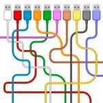 Usb plugs — Stock Vector