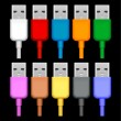 enchufes USB — Vector de stock