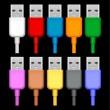 enchufes USB — Vector de stock