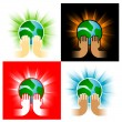 Royalty-Free Stock Vector Image: Earth in hands