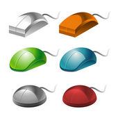 Color computer mice — Stock Vector
