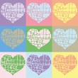 Vector illustration of colorful hearts — Stock Vector