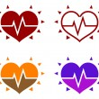 Icons of human heart - Stock Vector