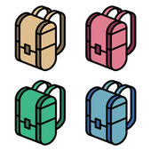 Color backpack — Stock Vector