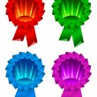 Award ribbon rosette - Stock Vector