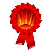 Award ribbon rosette — Stock Vector