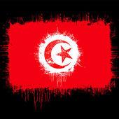 Flag of tunisia — Stock Vector