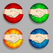 Handshakes — Stock Vector
