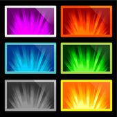 Illustration of rays of light — Stock Vector