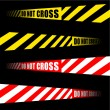 DO NOT CROSS tape — Stock Vector